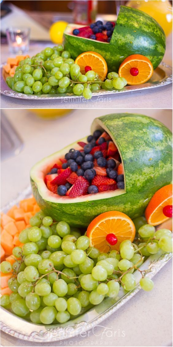 Adorable Baby Shower Fruit Tray Ideas