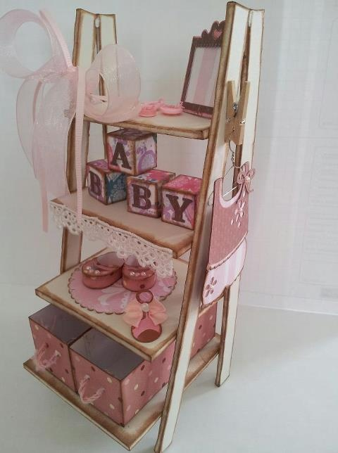 Side view of Baby Girl Baby Shower Shelt