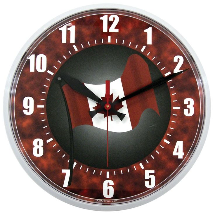to celebrate canada day take 30 off this acurite 12 5 indoor outdoor clock today only use. Black Bedroom Furniture Sets. Home Design Ideas