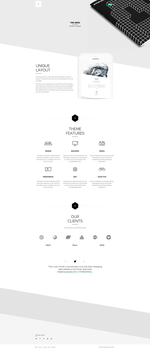 Flamingo - Agency & Freelance Portfolio Theme by Zizaza - design ocean , via Behance