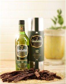 Birthday Presents for Him: Glenfiddich Scotch Whiskey and Biltong Hamper!