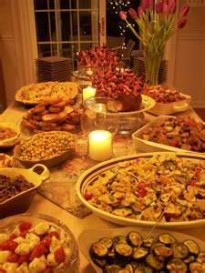Italian Food. Wow... I want to go to their house for dinner.