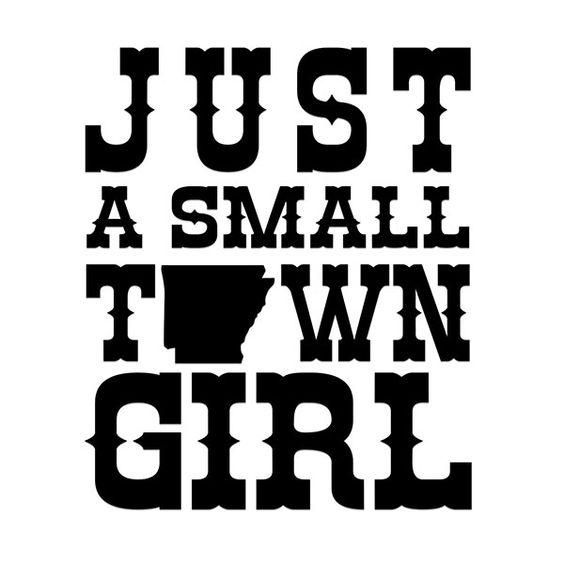 small town girl decal