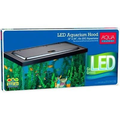 Aquarium Hood Led 20/55 Gallon Fish Tank Lights Integrated Cutouts Aquariums New