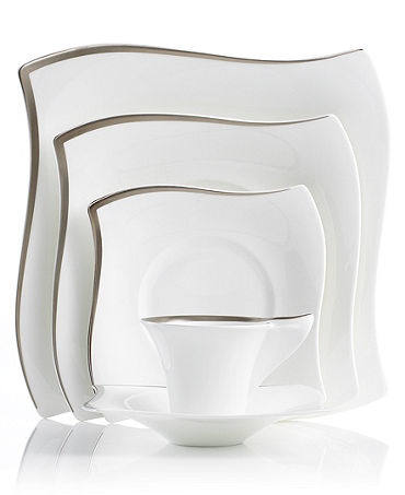 Villeroy & Boch New Wave Premium Platinum Dinnerware Collection