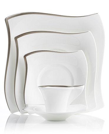 Villeroy & Boch New Wave Premium Platinum Dinnerware Collection