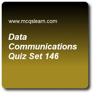 Data Communications Quizzes: computer networks Quiz 146 Questions and Answers - Practice networking quizzes based questions and answers to study data communications quiz with answers. Practice MCQs to test learning on data communications, vlans configuration, network congestion, fast ethernet, flow and error control quizzes. Online data communications worksheets has study guide as mode in which each station can send and receive data but not at same time is called, answer key with answers…