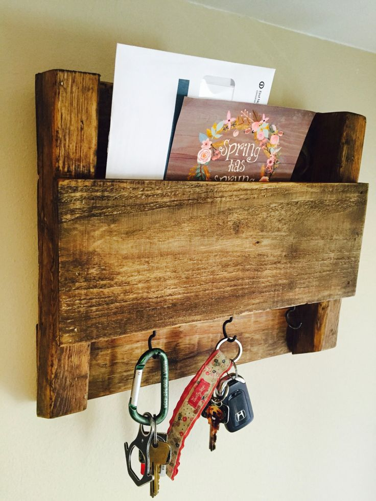 Wooden Mail and Key Holder by MBCreations21