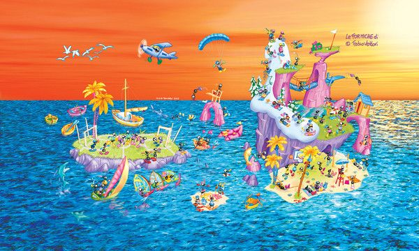 "Puzzle ""Isola"". #formiche #puzzle #isola #mare"