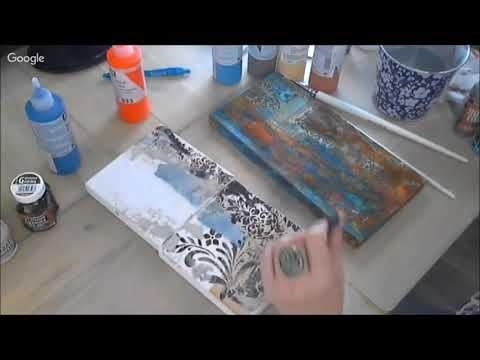Акриловые краски и эффект ржавчины в микс медиа декоре видео мастер-класс Натальи Жуковой - YouTube