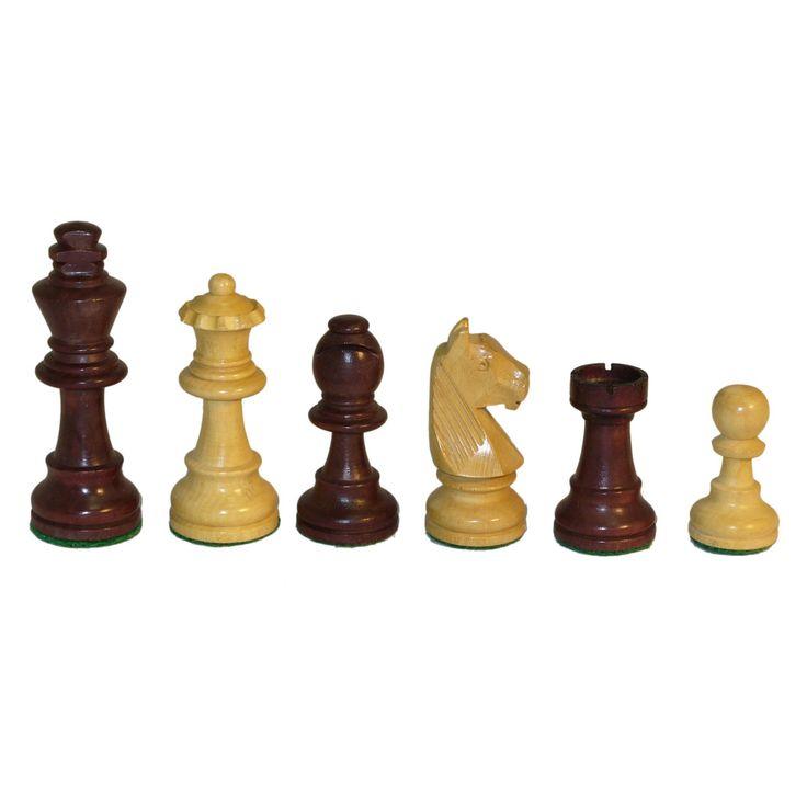 Walnut Stained German Knight Chess Pieces - 30WG