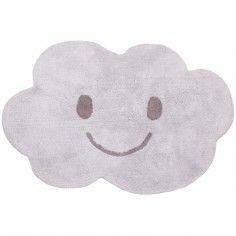 Tapis lavable nuage Nimbus gris (115 x 75 cm) - Nattiot