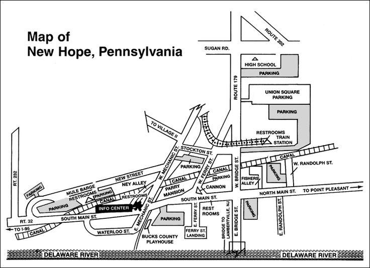 map of new hope u s travel pinterest main street