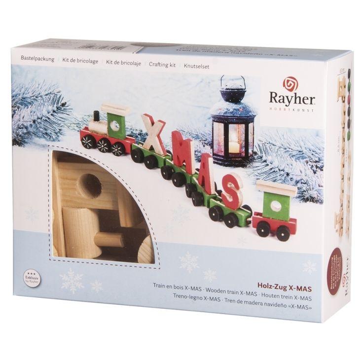 Kerst knutselset houten kersttrein. Dit hobby pakketje bestaat uit alle materialen en de handleiding die nodig zijn om deze trein te kunnen maken. De houten trein kan ter decoratie worden neergezet. Met de bijgeleverde verf worden alle onderdelen eerst beschilderd en daarna op eenvoudige wijze in elkaar gezet. Deze knutselset is geschikt voor volwassenen. Inhoud van het pakket: 1 houten locomotief, 4 houten wagons, 1 houten slotwagen, 4 houten letters, 8 verfpotjes met 4 kleuren en 1…