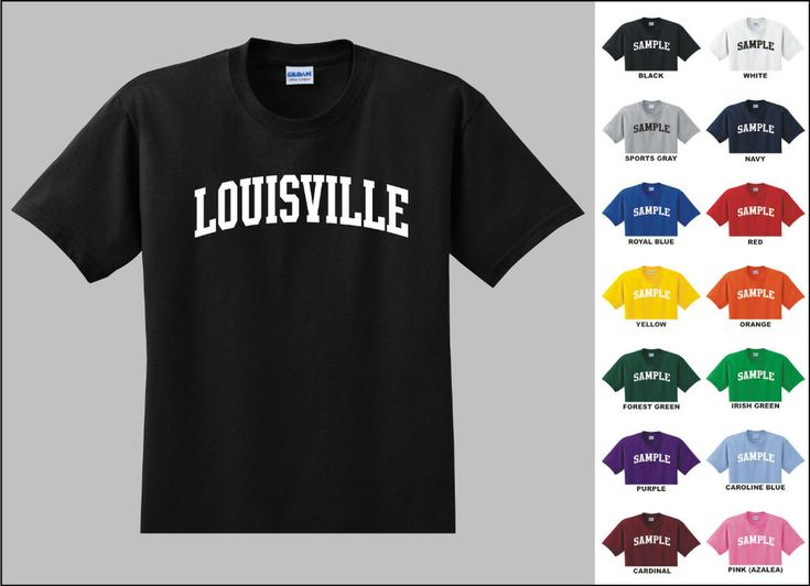 City of Louisville College Letters T-shirt #Gildan #GraphicTee