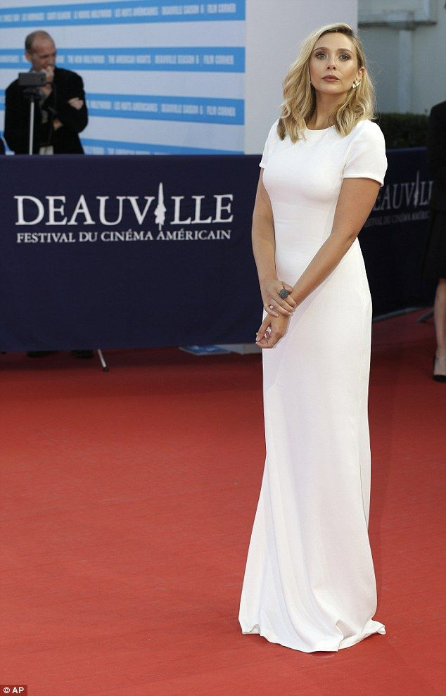 Big night: Elizabeth is in the beautiful French location for the US Film Festival, and is also promoting her new movie I Saw The Light