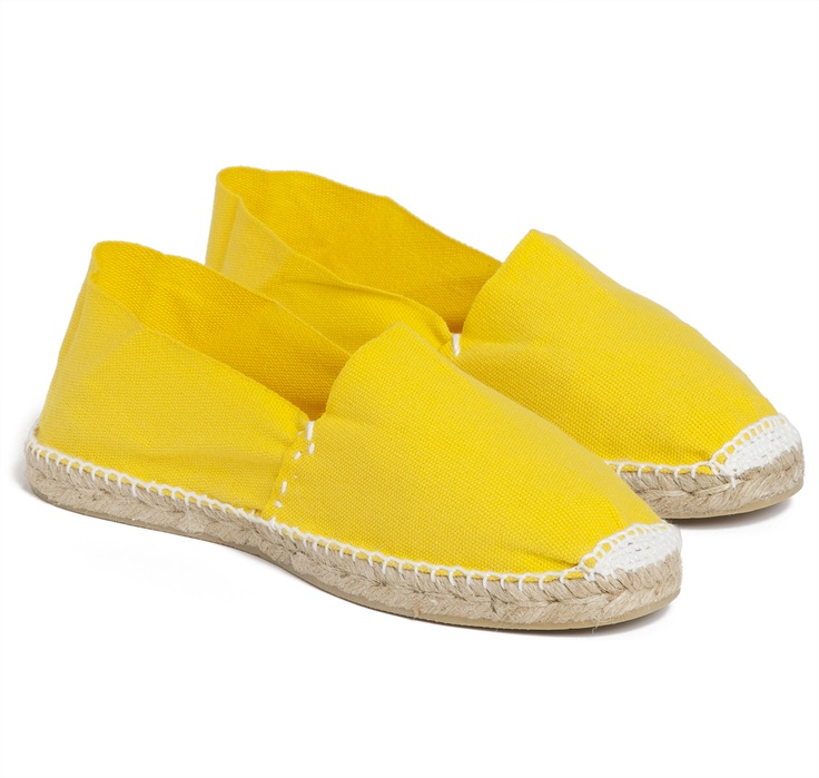 SIR JACK'S Canary Yellow Espadrilles