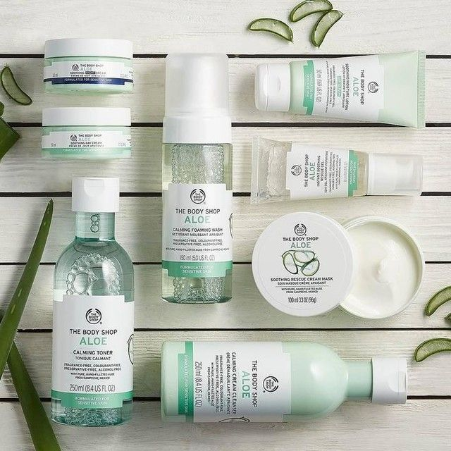 Enriched with Community Trade aloe vera from Mexico, our Aloe skincare range is gentle, fragrance-free and instantly soothing for sensitive skin #LiveYourSkin #Skincare