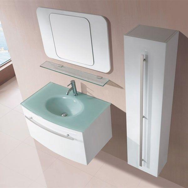 meuble salle de bain avec vasque en verre tremp ce petit meuble de salle - Vasque Salle De Bain Verre Trempe