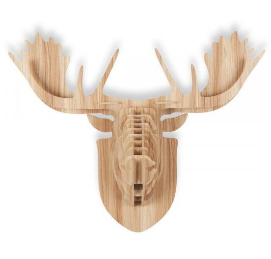 New Wooden Moose Head Diy Wall Mounted Decoration Home