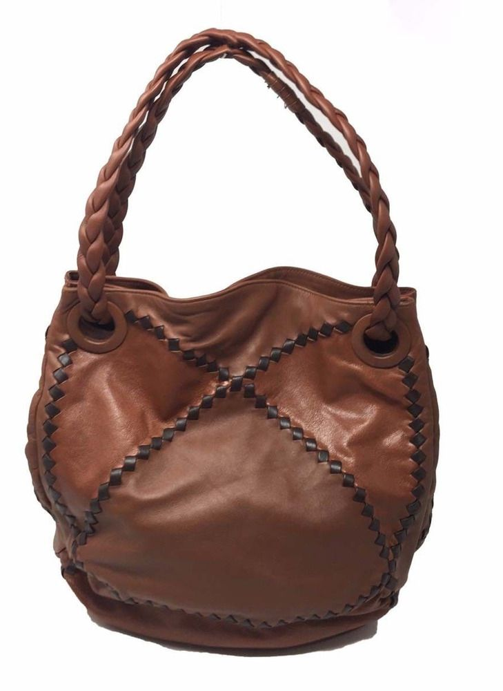 5e4f6d6408ee Authentic Bottega Veneta Intrecciato Leather Bucket Bag Brown Large   BottegaVeneta  BucketBag