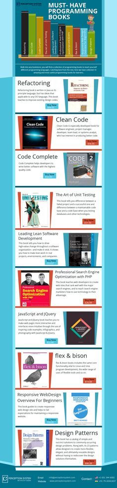 Whether you are learning to code or want to update your programming knowledge, we have list of incredible resources of programming books that make you knowledgeable in programming task. You can brilliantly learn code with these books even if you think you can't. So, go through the list of programming books and be the first choice of clients when they hire programmers for their projects.