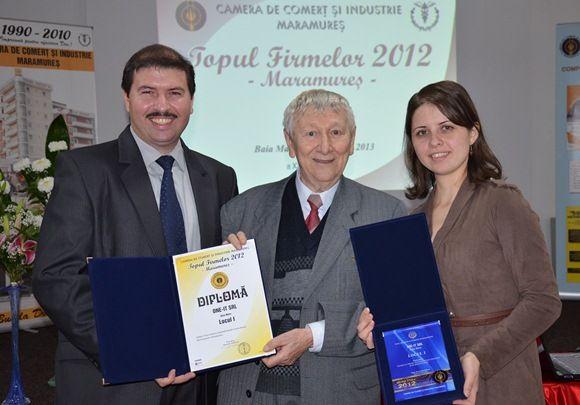 One-IT a primit LOCUL 1 in Topul Firmelor din Maramures