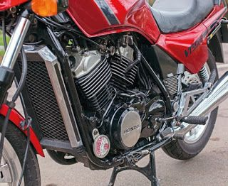 The Honda VT500E stand-out technical feature – one that's endured to the present day – was the design of the V-twin motor.