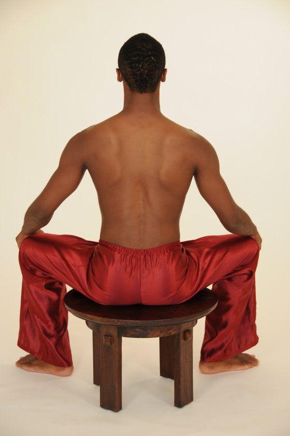 READY to SHIP Men's Pants  Hemp Silk Charmeuse by SoulRole