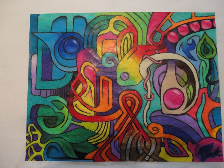 Abstract Colored Pencil Drawings | Abstract colored pencil drawing by CaseyBeck