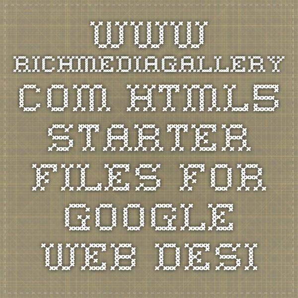 www.richmediagallery.com - Html5 starter files for Google Web Designer