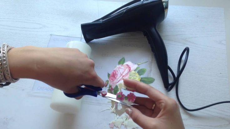 Servet op kaars maken, a napkin on a candle - YouTube