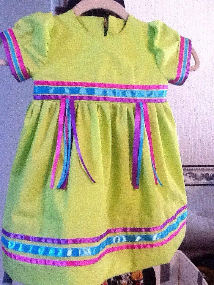 Toddler Pow Wow ribbon dress. By Pita Macias