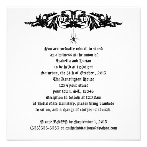 1000 Images About Halloween Wedding Invitations On Pinterest Gothic Wedding Pumpkin Wedding