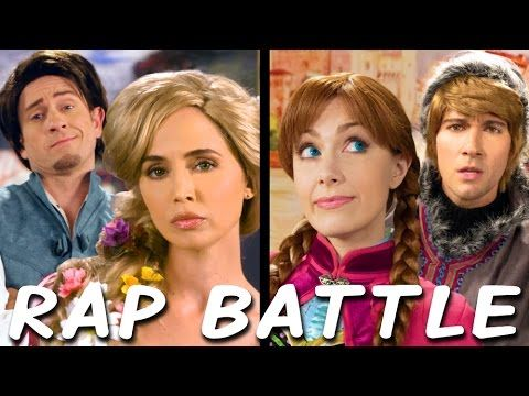 RAPUNZEL vs ANNA: Princess Rap Battle (Eliza Dushku James Maslow Tom Lenk Whitney Avalon) *explicit* - YouTube