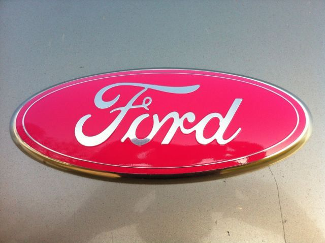 "Ford Truck Emblem, 9 inch ,PINK BREAST CANCER Sticks on, Ford Part,2004-2012 all 9""x3.5"""