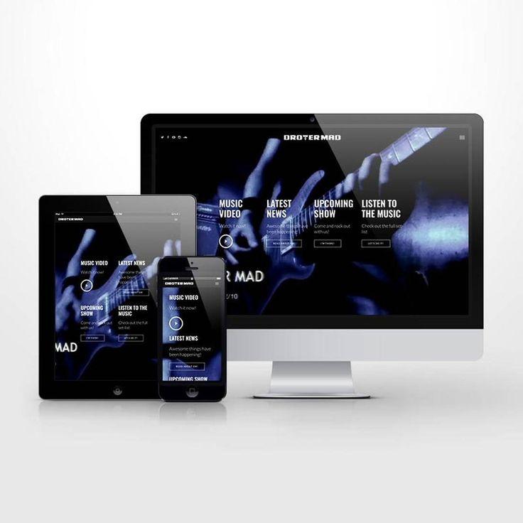 Responsive website UI for rock band. #responsive #design #designinspiration #band #musicsite #music #web