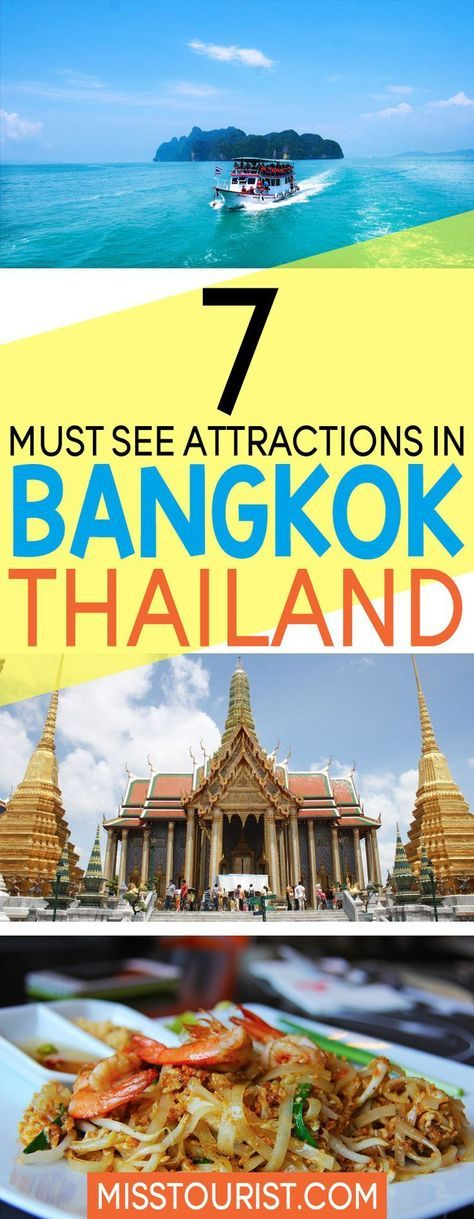 A visit to Bangkok in a must when in southeast Asia! And while there you can't miss these must see attractions that will awe you! Click to find out the top things to do in Bangkok! #asia #bangkok #thailand ***************************************** Bangkok Thailand | Bangkok travel | Thailand travel | Thailand destinations | Bangkok things to do in | What to do in Bangkok | Thailand food | Thailand temples | Things to do in Thailand