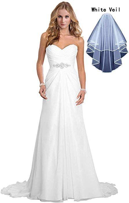 Dreambridal Simple A Line Chiffon Bride Wedding Dresses White US 16W at  Amazon Women s Clothing store  aa9e6e7dba