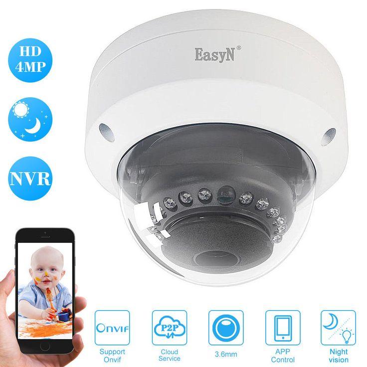 EasyN HD 4MP POE Dome IP Camera #EasyN