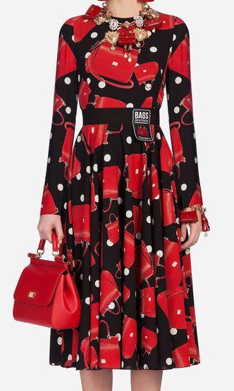cb91c45d4 Dolce & Gabbana - Printed multicolor silk dress ($2,795) | DRESSES ...