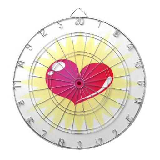 Heart dart board - love killer game ;)