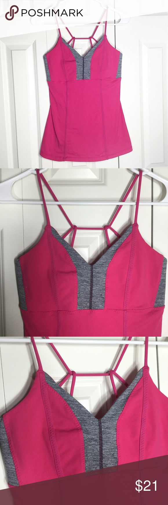 ❣️LULULEMON | pink strappy tank top❣️ •super cute Lululemon workout tank, with unique strap detail, and flattering neck line •size 6 •gently worn, but in excellent condition!   IG: @notyourhamper 📸 Same day shipping!📆 Pet/smoke free home!🚭 Offers encouraged!💸 Bundle & save!🛍  Thanks for looking, xo💋 lululemon athletica Tops Tank Tops
