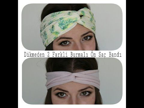 DIY- Dikmeden 2 Farklı Burmalı Ön Saç Bandı Yapımı // Kolay ve Süper Ucuz - YouTube