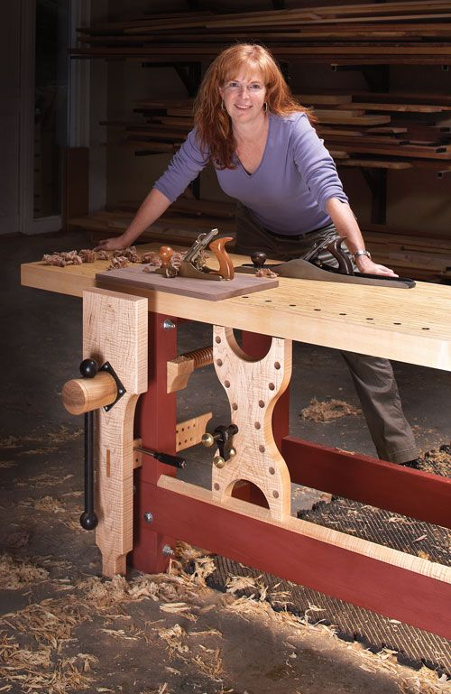 "LVL workbench (with hard maple chop, edges and sliding ""deadwoman""), with Christopher Schwarz (November 2009 PWM)."