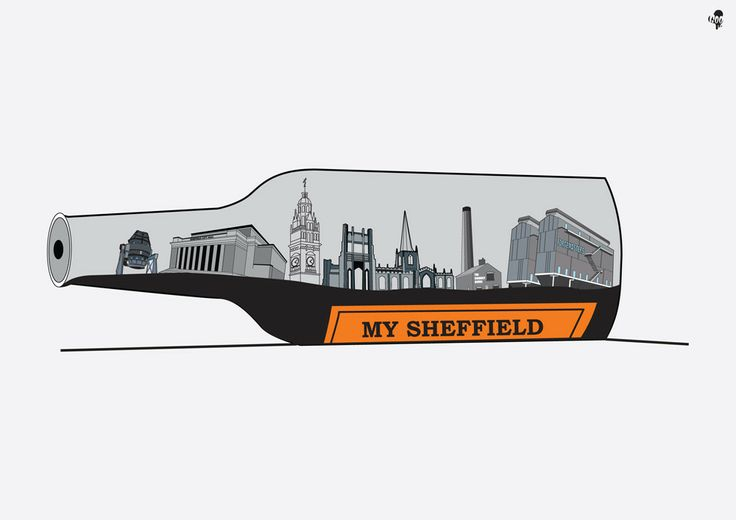 Sheffield-based artist Goo Design captures (among other things) slices of Sheffield inside bottles of Henderson's Relish.