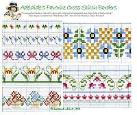 Floral Borders and more free cross stitch patterns from www.handmade-adelaide-baby.com