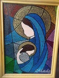Resultado de imagen para virgen Maria Auxiliadora puntillismo