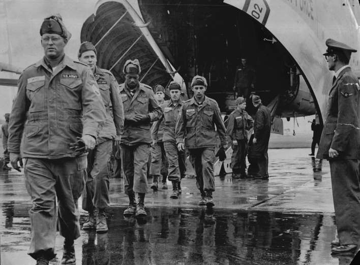 April 11, 1963: HAWAIIN TROOPS SENT TO SOUTH VIETNAM  -    One hundred U.S. troops of the Hawaiian-based 25th Infantry Division are ordered temporary duty with military units in South Vietnam to serve as machine gunners aboard Army H-21 helicopters. This was the first commitment of American combat troops to the war and represented a quiet escalation of the U.S. commitment to the war in Vietnam.