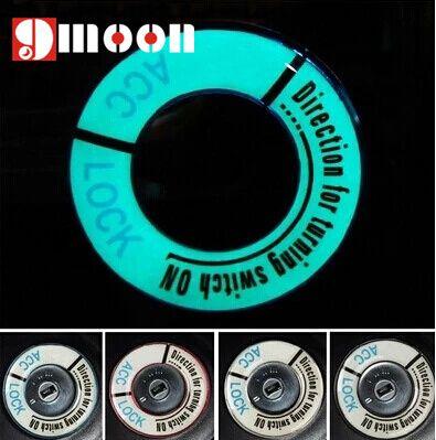 2015 Luminous Aluminium Alloy Ignition Key Ring Cover Decorative Stickers Case For Peugeot 2008 308 301 307 408 508 407 3008